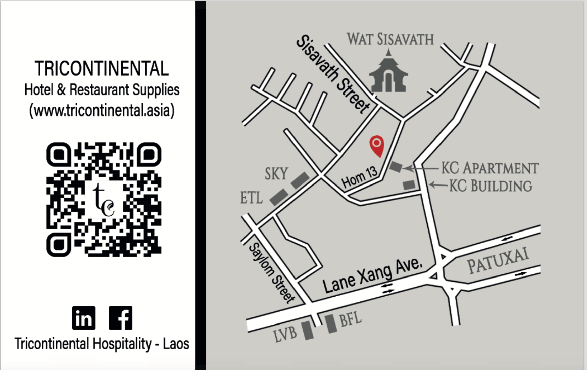 Vientiane showroom Direction